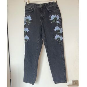 Topshop embroidery Jeans